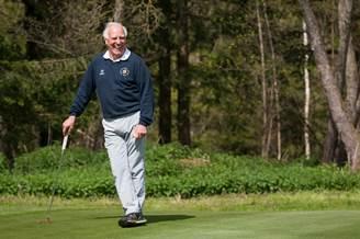Franz Roth am Golfplatz