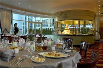 Breakfast table in the hotel