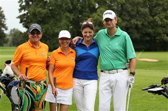 Golfspieler am Golfplatz