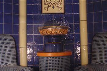 Fountain at the sauna