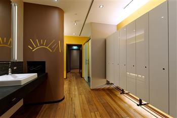 Changing rooms at the spa area