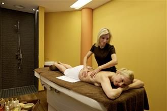 Woman at the massage